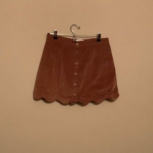 Kendall and Kylie brown swade mini skirt